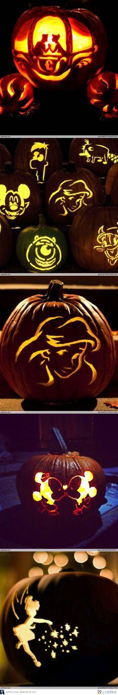 Disney pumpkin carving ideas holiday halloween