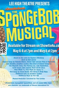 Huntsville, AL. - Head down to Bikini Bottom with the Lee High School Theatre for The SpongeBob Musical!The SpongeBob Musical is an adaptation of Nickelodeon's long-running animated children's sitcom of the same name. The SHOW features an eclectic score of music, each song having been written by a different musical artist with the purposes of recreating the type of musical hodgepodge exhibited by the original television series.Featuring Joey Smith as SpongeBob.The stakes are higher than ever…