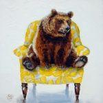 Bear on chair Kimberly Applegate