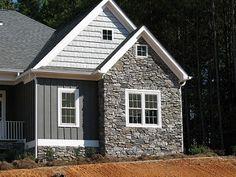 House exterior design stone siding colors 65 ideas for 2019 House Siding, House Paint Exterior, Exterior Siding, Exterior Remodel, Exterior House Colors, Exterior Design, Stone Exterior, Clapboard Siding, Gray Siding