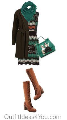 Have fun and wear what you love!  Jen Thoden                 Shop This Look        M Missoni green dress theoutnet.com    VILA brown trench coat $46-vila.com    Frye boots nordstromrack.com    Dolce Gabbana leather handbag $1,610-italist.com    Wrap shawl