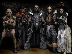 Lordi is a Finnish hard rock band, formed in 1992 by the band's lead singer, songwriter and costume-designer, Mr. Lordi. The band is known for wearing monster masks and using pyrotechnics during concerts.