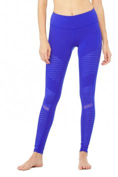 Alo Yoga - Moto Legging - Deep-Electric-Blue-Deep-Electric-Blue-Glossy-1