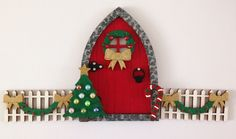 Magical Handmade Christmas Decoration Elf Door, Fairy Door & Fencing | eBay Christmas Fairy, Christmas Crafts, Xmas, Christmas Ornaments, Handmade Christmas Decorations, Holiday Decor, Elf Door, Winter Fairy, Fairy Doors