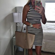 This striped dress is only $30 and the perfect lightweight cotton for a night out with friends! I wear this soft number at least every other week! You just have to have it it's also fully lined and holds you in!  Click the direct link in my profile to shop this look @liketoknow.it www.liketk.it/1FLyp #liketkit by shopdandy