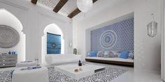 White And Blue Design