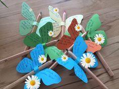 Bei uns beginnen die Ferien erst demnächst. Zum Jahresabschluss und zum Abschied für meine Zweitklässler bekommen alle einen kleinen Schmetterling. Im linken Flügel stehen vereinfacht Sätze aus dem…