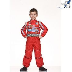 Disney Pixar Cars 2 McQueen Racing Driver Costume  sc 1 st  Pinterest : race car driver kids costume  - Germanpascual.Com