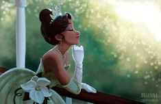 "briannacherrygarcia: "" Photoshop painting of Tiana. Walt Disney, Deco Disney, Disney Fan Art, Cute Disney, Disney Girls, Disney Magic, Tiana And Naveen, Disney Princess Tiana, Tangled Princess"