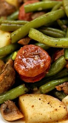 Instant Pot Cajun Sausage, Potatoes & Green Beans
