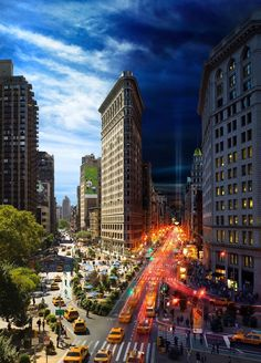 "Flatiron (New York) ""Day to Night"" by Stephen Wilkes http://www.stephenwilkes.com"