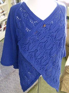 Summer Lace Wrap Cardigan By Vera Sanon - Free Knitted Pattern - (ravelry)