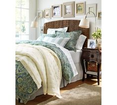 Bella Paisley Duvet Cover & Sham - Blue (PB).  Love the paisley/solids/stripes combo!  For master bed or guest?
