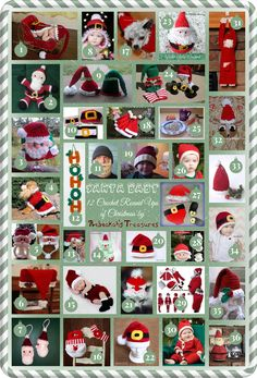 Santa Baby - 36 free and paid Santa-themed crochet patterns, roundup by Rebeckah's Treasures