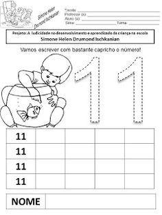 Atividades com números de 11 a 20 | Julilu Atividades Escolares