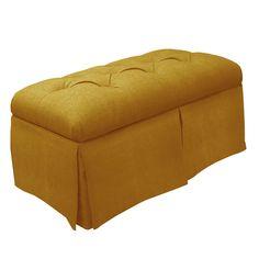 Skyline Furniture Skirted Linen Storage Bench & Reviews | Wayfair