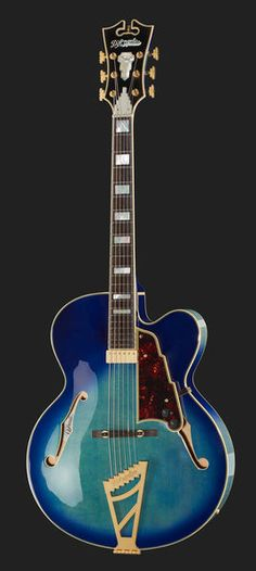 DAngelico EXL-1 BB, hollowbody jazz guitar, single cutaway,  laminated spruce top, laminated flame maple back, 7 ply  front binding, hard maple neck with 2 pcs walnut center,  rosewood fretboard, Mother of Pearl inlays, scale 648mm,  nut width 43mm,...