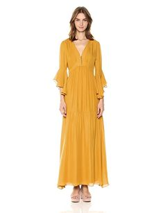 308a12a908 Badgley Mischka Women s Solid Maxi Dress