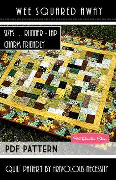Wee Squared Away Downloadable PDF Quilt Pattern Frivolous Necessity