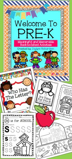 Welcome Pre-K students with these easy-to-use, fun, and memorable activities and materials! As a veteran Pre-K teacher, I& created this packet with my best ideas and favorite activities in mind, and I& so excited to share them with you! Preschool Curriculum, Preschool Themes, Preschool Lessons, Preschool Classroom, Preschool Learning, Classroom Ideas, Early Learning, Classroom Organization, Homeschooling