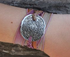 Mehndi - Silk Ribbon Wrap Bracelet - So addicted to jewelry lately. Want it all!