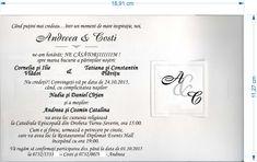 Invitatii de nunta initiale in chenar 32720 • Cataloginvitatii Nasa, Personalized Items