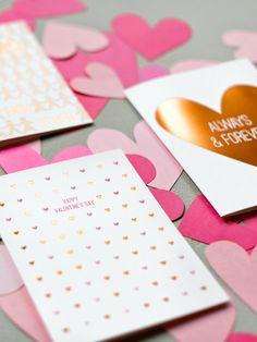 Happy Valentine's Day Copper Foil Card | Sycamore Street Press