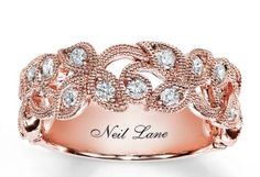 Neil Lane rose gold anniversary band.. I love this!!! I might have to get it before my anniversary.. Lol
