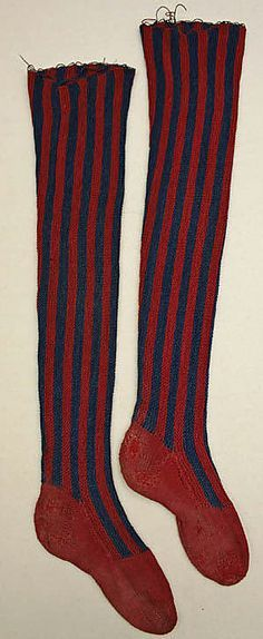 18th century stockings | late 18th-early 19th century Stockings Met C.I.44.8.13a, b
