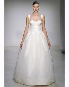 This Amsale ball gown is simple, but still feels dressy