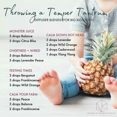 Throwing a Temper Tantrum - Doterra essential oil diffuser blends by Natalie Blackburne Calming Essential Oils, Essential Oils For Babies, Essential Oil Diffuser Blends, Doterra Essential Oils, Doterra Diffuser, Doterra Blends, Yl Oils, Oils For Energy, Diffuser