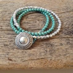 Angel Bracelet - turquoise from Beadorable Designs