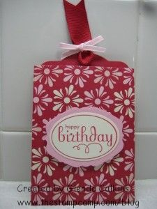 Two Tags Die Gift Card Holder