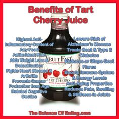 Everyone knows how delicious cherries are, but did you also know they are a wonderful way to help relieve pain, avoid premature aging, and add years to your life? FruitFast Tart Cherry Juice is America's selling brand of Tart Cherry Juice Concentrate, Tart Cherry Juice Benefits, Cherry Juice For Gout, Soy Milk Ice Cream, Tart Cherry Juice Concentrate, Smoothie Recipes, Smoothies, Juice Recipes, Juicing Benefits, Health Benefits