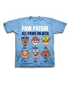 Look at this Sky Blue PAW Patrol 'all Paws on Deck' Tee - Toddler & Boys on #zulily today!