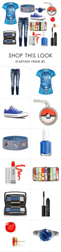 """Pokemon"" by redtulip925 ❤ liked on Polyvore featuring Current/Elliott, Converse, Essie, FACE Stockholm, Lancôme, NARS Cosmetics and Kate Spade"