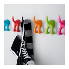 IKEA - BÄSTIS, Hook, assorted colours, Made from soft rubber; no sharp edges to bump against. Decoupage, Ikea I, Hanging Picture Frames, Design Your Life, Coat Hooks, Coat Hanger, Small Storage, Wall Hanger, Baby Decor