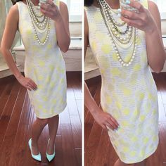 Ann Taylor Sundot Dress and Statement Pearls Dress Skirt, Bodycon Dress, Dot Dress, How To Look Expensive, Stylish Petite, Spring Work Outfits, Lifestyle Clothing, Petite Women, Style