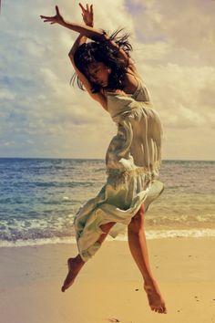 beach ballet blue dress