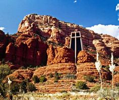 Chapel of the Holy Cross, Arizona Built in 1956, this bold church rises from the stony bluffs of Sedona's Mystic Hills, which have eroded over the years to resemble the faces of eagles, snakes, and foxes.