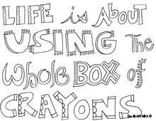 all quotes coloring pages - Crayon Coloring Sheet
