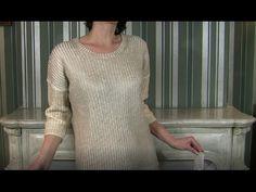 Новичкам! ПРОСТОЙ свитер спицамиФантазируем, моделируем, делаем расчеты для будущего свитера - YouTube