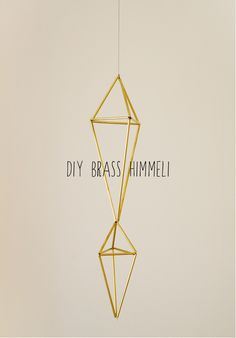 swoon studio: DIY Brass Himmeli Here's what you need: Brass Tubing (I found mine in the model building section of Hobby Lobby), strong thread, a needle, a small pipe cutting tool (mine was found right next to the brass tubing), scissors, and a measuring tool.