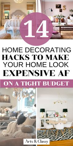 Learn 14 tips on how to make your home look expensive on your budget Cozy Small Bedrooms, Small Room Bedroom, Shabby Chic Bedrooms, Small Rooms, Diy Home Decor Bedroom, Home Decor Furniture, Furniture Makeover, Bedroom Ideas, Decorating Your Home