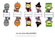 Free Printable Diy Halloween game / Jeu de l'oie Halloween à imprimer sur Moma