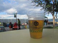 Where I'd wear my L.L. Bean: Enjoying a drink on the University of Wisconsin Memorial Union Terrace.