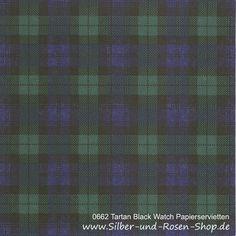 20 Papierservietten Tartan Black Watch 33x33