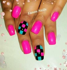 Love the pink color minus the checkered design