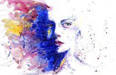 Elképesztő! Az összefőzött méz és fahéj kezeli a reumát, a koleszterin problémákat, az epebajt és még sok más egészségügyi gondot... - Funland Abstract Faces, Abstract Paintings, Female Images, Female Art, Drawing Techniques, Drawing Tutorials, Art Thérapeute, Colorful Paintings, Social Anxiety