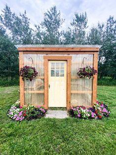 Lean To Greenhouse, Backyard Greenhouse, Greenhouse Plans, Backyard Landscaping, Garden Yard Ideas, Garden Projects, Dream Garden, Home And Garden, Garden Art